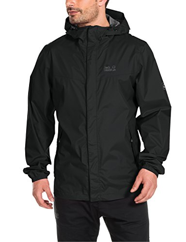Jack Wolfskin Herren Wetterschutz Jacke Cloudburst Jacket, Black, XXXL, 1104951-6000007