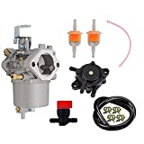 1016478 1016438 Carburetor with Fuel Pump Filter Replacement for Club Car DS FE290 Kawasaki Engine Gas Golf Cart 1992-1997