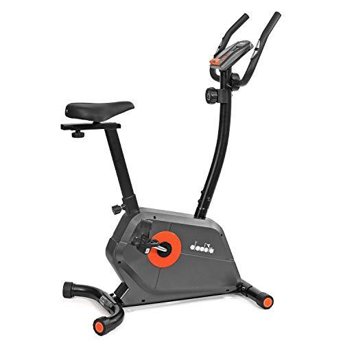 Diadora Fitness Astra Cyclette Magnetica Hand Pulse, Grigio scuro