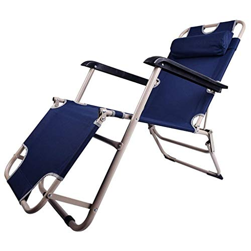 Zero Gravity Lounge Chair Patio Foldable Adjustable Reclining with Headrest for Outdoor Yard Porch Blue Support 330lbs HAIKE