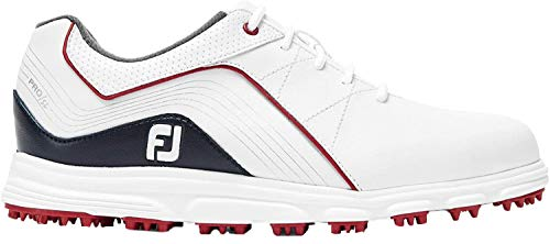 Footjoy Jungen Junior Golfschuhe, Weiß (Blanco/Azul/Rojo 45028m), 34 EU