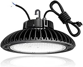 HYPERLITE 150W LED High Bay Lights 21,000Lm 5000K Industrial Grade 5' Cable with US Plug UL and DLC Premium Approved with Meanwell Driver for Warehouse Gym Workshop【Offer Lighting Layout】