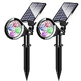 Best Solar Spot Lights - YUMAMEI Solar Spot Lights Outdoor, 2-in-1 Waterproof Multicolor Review