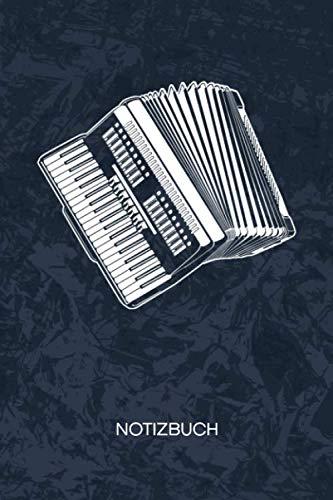 NOTIZBUCH: A5 Kariert - 120 Seiten KARO - Geschenkidee für Akkordeonspieler Heft Instrumente Notizheft - Ziehharmonika Notizblock Akkordeon Motiv - Musiker Geschenk Bandoneon