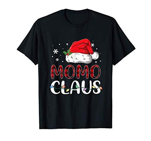 Momo Claus Christmas Santa Hat Buffalo Matching Family T-Shirt