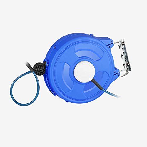 HOUSEHOLD Automatic retractable hose reel storage hose reel, portable garden hose rack, portable wall-mounted hose truck, high pressure car wash hose set, used for watering flowers/pet showers