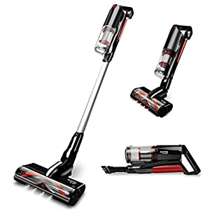 MIC Cordless Vacuum Cleaner, 20000Pa Stick Vacuum, 5 in 1 Handheld Lightweight Vacuum Cleaner with Removable Battery, 250W, Up to 50 Mins Working Time, LED Brush for Carpet Floor Pet Hair Car