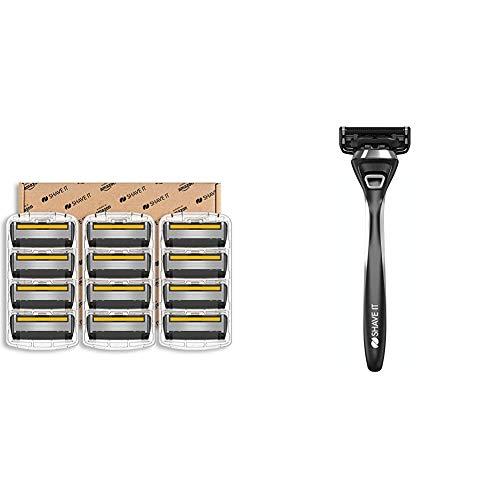 Shave It Grand, 6-Klingen-Rasierer, 12 Klingenköpfe & Pro, 5-Klingen-Rasierer mit Griff und 1 Klingenkopf