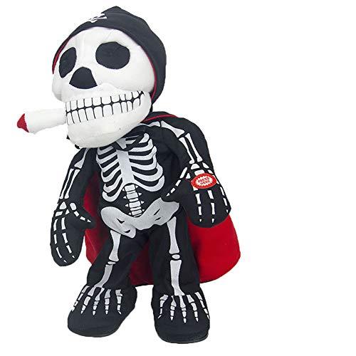 Nyyi Halloween Elektrische Vampir Schädel Weiche Gepolsterte Puppe, Zombie Puppe Elektrische Plüsch Schädel Geist Halloween Party Spielzeug Stil A