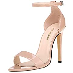 SIZE:Heel measures approximately 3.94 inches, Platform height measures approximately 1.97 inches. Standard US Size,true to size fit, both in length and width MATERIAL: Chunky Block Heeled Sandals adopt 100% Man Made Material, Latex padded insole and ...