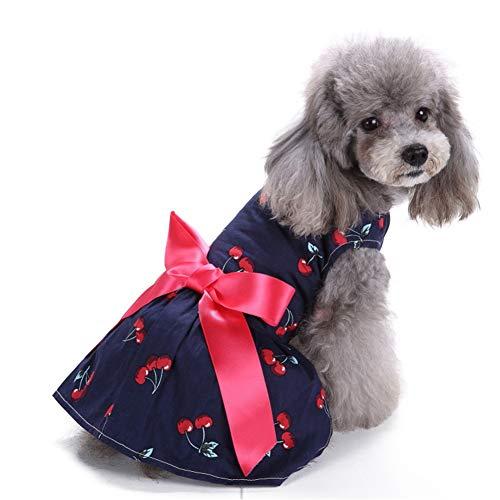 hongyupu hundekleid Haustierkleid Brautkleider für Hund Sommerhundekleidung Hundekleidung Hundekleidung für kleine Hunde Hundekleid für den Sommer 6,s