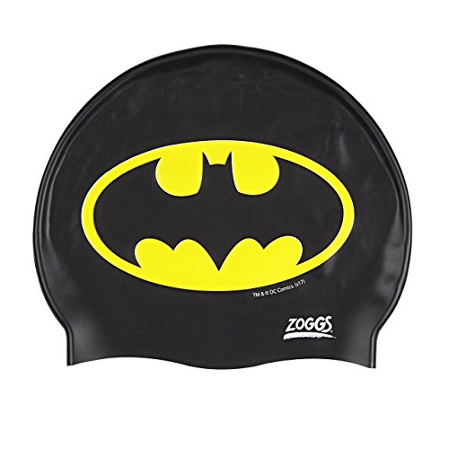 Zoggs Kinder Batman-Silicone Cap Badekappe, Black, One Size