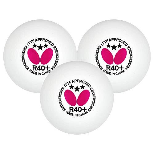 Butterfly Bolas de tênis de mesa R40+ – Bola de pingue-pongue branca de 40 mm – Bola de tênis de mesa profissional com certificação ITTF – Bola de tênis de mesa de poliéster – Pacote com 3 ou 12