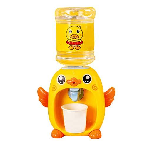 WAK Mini Wasserspender Spielzeug mit Musik & hellgelber Entenform Kinder Getränke Spender mit Wassereimer & Wasserhahn