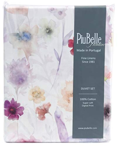 Piu Belle PIUBELLE Made in Portugal Tabarca Print Duvet Set - 3pc Queen Set (Cotton) Spring Floral