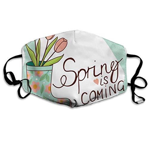 Dnwha Polyester-Material, Frühlingsstiefel mit Tulpen, mit Knöpfen zur Anpassung der Festigkeit, geeignet für jeden