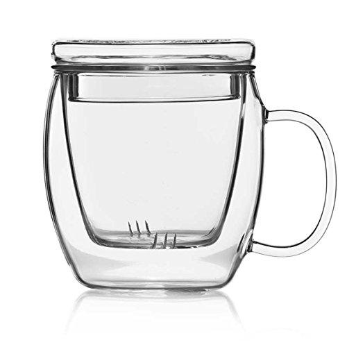 Dimono Teemaker Teebereiter Teezubereiter mit Filtereinsatz und Deckel Teekanne & Tasse