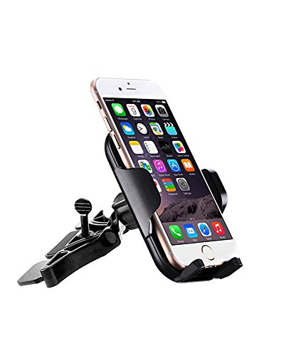 Huayue Car Phone Mount Holder Universal Rotatable Adjustable Handlebar CD Vent Cradle Compatible with iPhoneX/8 plus/8/7 plus/7/6s/6s Plus/6,Samsung Galaxy,LG,HTC