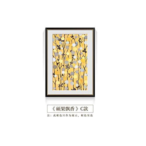 Arte de la pared Pintura de la lona Estilo europeo Cosecha de frutas y verduras Decoración de la temporada HD Poster Print para la sala Comedor Imagen abstracta-70x90cm_ (No_frame) _C_Vegetable
