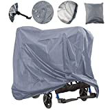 Lmeison Mobility Scooter Cover Waterproof, Wheelchair Storage Cover Oxford Fabric Lightweight Rain Protector from Dust Dirt Snow Rain Sun Rays - 67 x 24 x 46 inch (L x W x H)