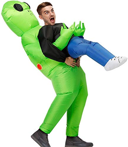 funny halloween costumes MH ZONE Inflatable Alien Costume for Adult Funny Halloween Costumes Cosplay Fantasy Costume (Adult Ghost)