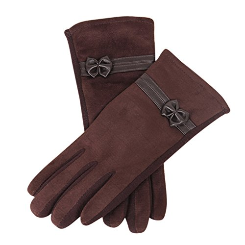 OSYARD Damen Winterhandschuhe Touchscreen Handschuhe Handwärmer Schwarz Grau Wildleder Fleecefutter, Winter Warme Touch Screen Riding Drove Handschuhe Fäustlinge Armwärmer Stulpen für Frauen
