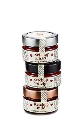 Ketchup Sortenmix - Zum Heiligen Stein - 3 x Geschenkpackung, je 3x75g