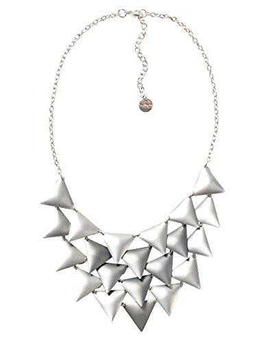 DESIGUAL Global traveller 72G9EJ62015U - Collar para mujer (bañado en plata)