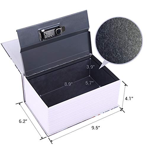"""Diversion Book Safe, Ohuhu Extra Large Multi-Use Metal Book Safe with Combination Lock, Stash Safe Box, Secret Safe Containers for Money, Jewelry Documents or Valuables 8.9"""" x 5.7"""" x 3.9"""" Photo #3"""