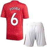 YUUY Traje de Camiseta de fútbol para Hombre Traje de Entrenamiento Paul Pogba # 6 Todos los tamaños para niños y Adultos (Color : A, Size : Child-20)