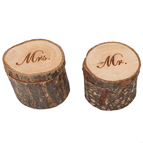 Caja para anillos de joyería para la fiesta del día de San Valentín (MR & MRS)