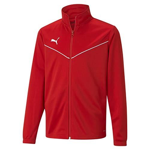 Puma Kinder teamRISE Training Poly Jacket Trainingsjacke, Red White, 140