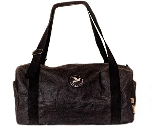 Papero ® Sporttasche aus Papier   Ultra minimalistisch Herren Damen ist Robust & Wasserfest Vegan fair nachhaltig für Joga, Reisetasche, Weekender  FSC Zertifiziert  