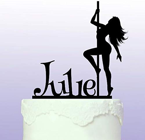 Personalised Pole Dancer - Acrylic Cake Topper
