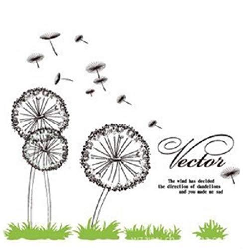 Muursticker 3Rd Generatie 60 * 90Cm Dandelion DIY raamdecoratie Stickers Wand Tattoo Stickers Kids