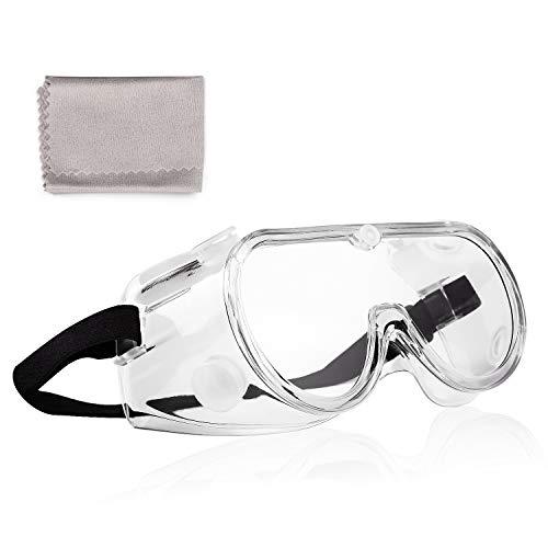Deyard Schutzbrille Spritzwassergeschützte Linse Antibeschlag, Überbrille mit weichem Nasenstück, Leichtes Gewicht und Angenehm zu Tragen