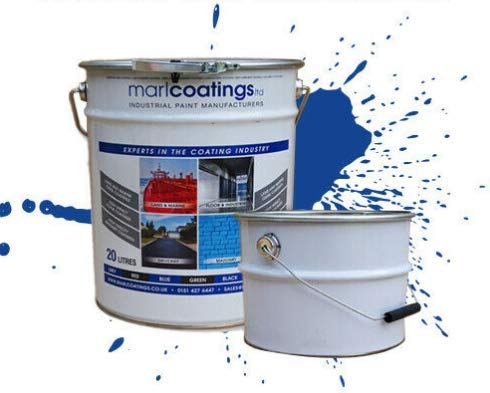 Heavy Duty Hardwearing Polyurethane Concrete Industrial (20L Mid Grey) Semi Gloss Floor Paint, Great for Garages, Car showrooms, Factories and Many Other uses.