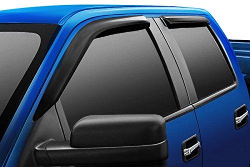 Razer Auto 4pcs Set Tape-On Smoke Tint Window Visor/Wind Deflectors Compatible...