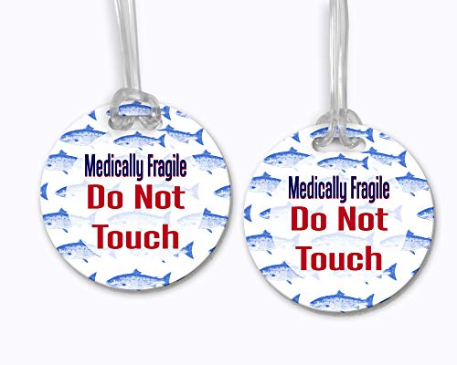 Medically Fragile Do Not Touch Fish - Car Seat No Touching Tag, Car Seat Tag, Car Seat Sign, No Touching Sign, Baby Shower Gift