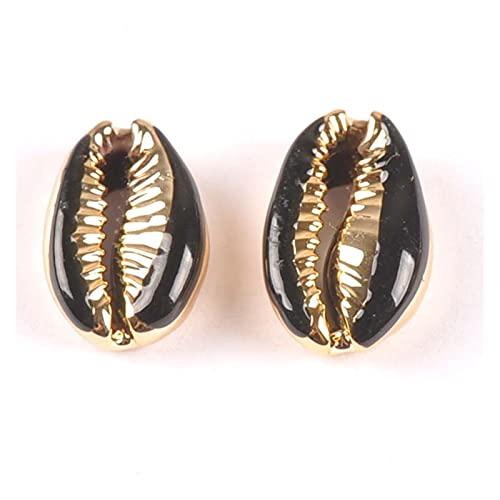 FORETTY KWF728 Cortas Naturales Cashrie Shells Chapado en Oro Seashell Conch Beads Joyería Tribal Accesorios artesanales Hechos a Mano Bricolaje 1 0pcs Bricolaje Hecho a Mano