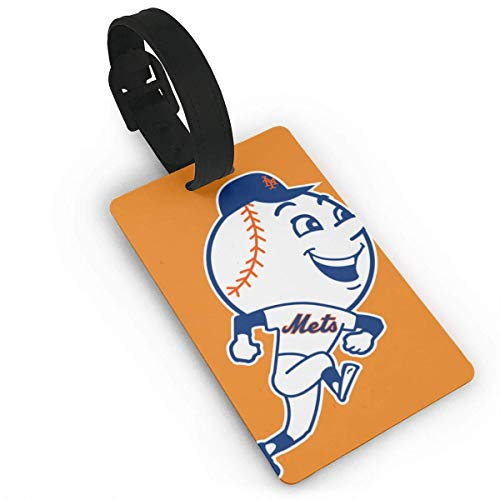 shenguang New York Baseball Fans Mr. Met Luggage Tag Travel Id Card with Both Men and Women for Registration Information