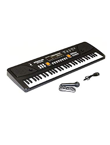 vizn electronic piano keyboard 61 keys with led display and microphone and usb...