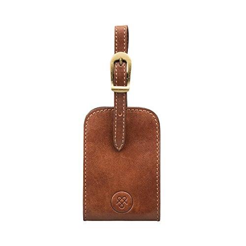 Maxwell Scott Full Grain Leather Luxury Luggage Tag - Ledro Tan