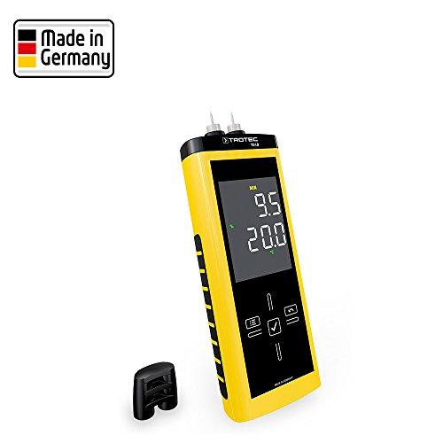 TROTEC T510 Feuchtemessgerät Feuchteerfassung Touch-Bedienfeld Holdfeuchte messen