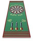 FS Spielmatte in sehr guter Qualität - Dartspiel - Bulls' Eye - Zielscheibe 79 x 237 cm Made in Europe