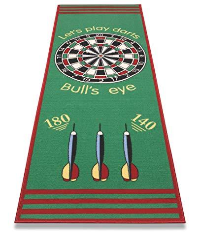 F&S Dartteppich in sehr guter Qualität - Dartspiel - Bulls' Eye - Zielscheibe 79x237cm