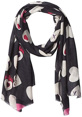 Armani Exchange AX Damen SCARF Schal, schwarz, Einheitsgröße