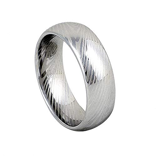 N-A Classic Silver Color Damascus Steel Jewelry Wedding Bands Finger Rings Men Tungsten Carbide Ring Male Pvf322 12