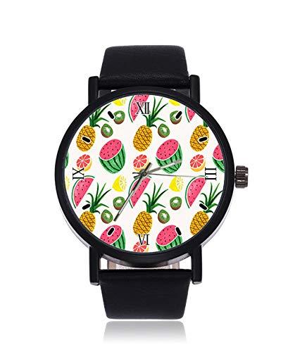 Fruit Pineapple Reloj de Pulsera de Cuarzo para Hombre y Mujer, diseño...