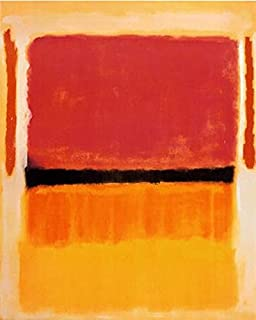 Violet Black Orange Yellow on White and Red 1949 Mark Rothko Abstract Warm Colors Print Poster 36x26